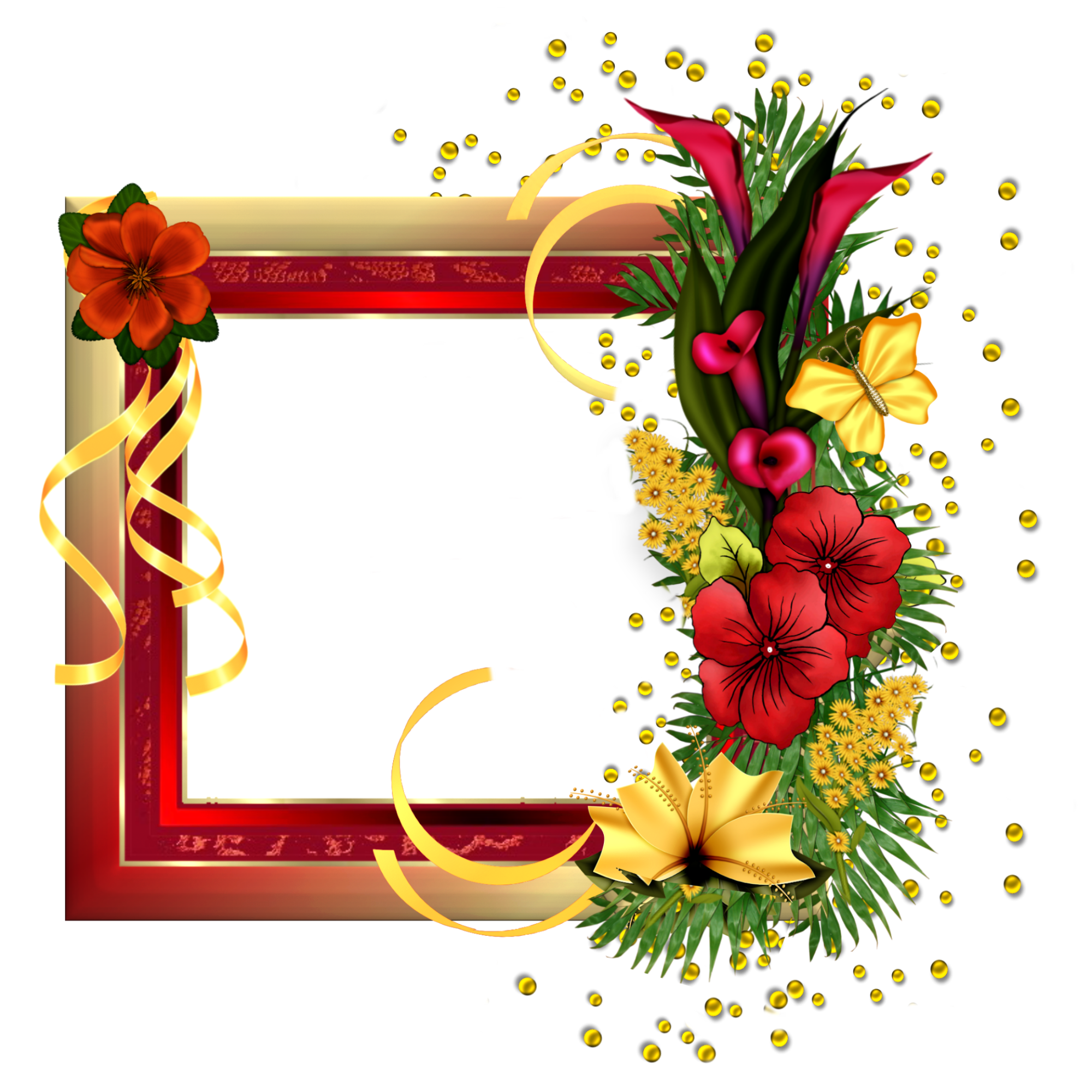 Red Flower clipart nice view #11