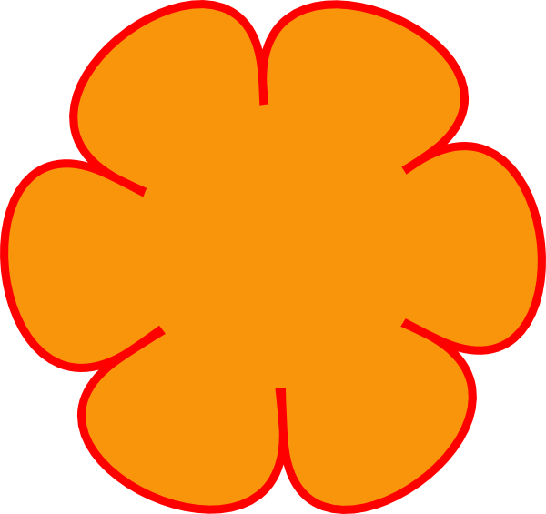 Red Flower clipart outline #12
