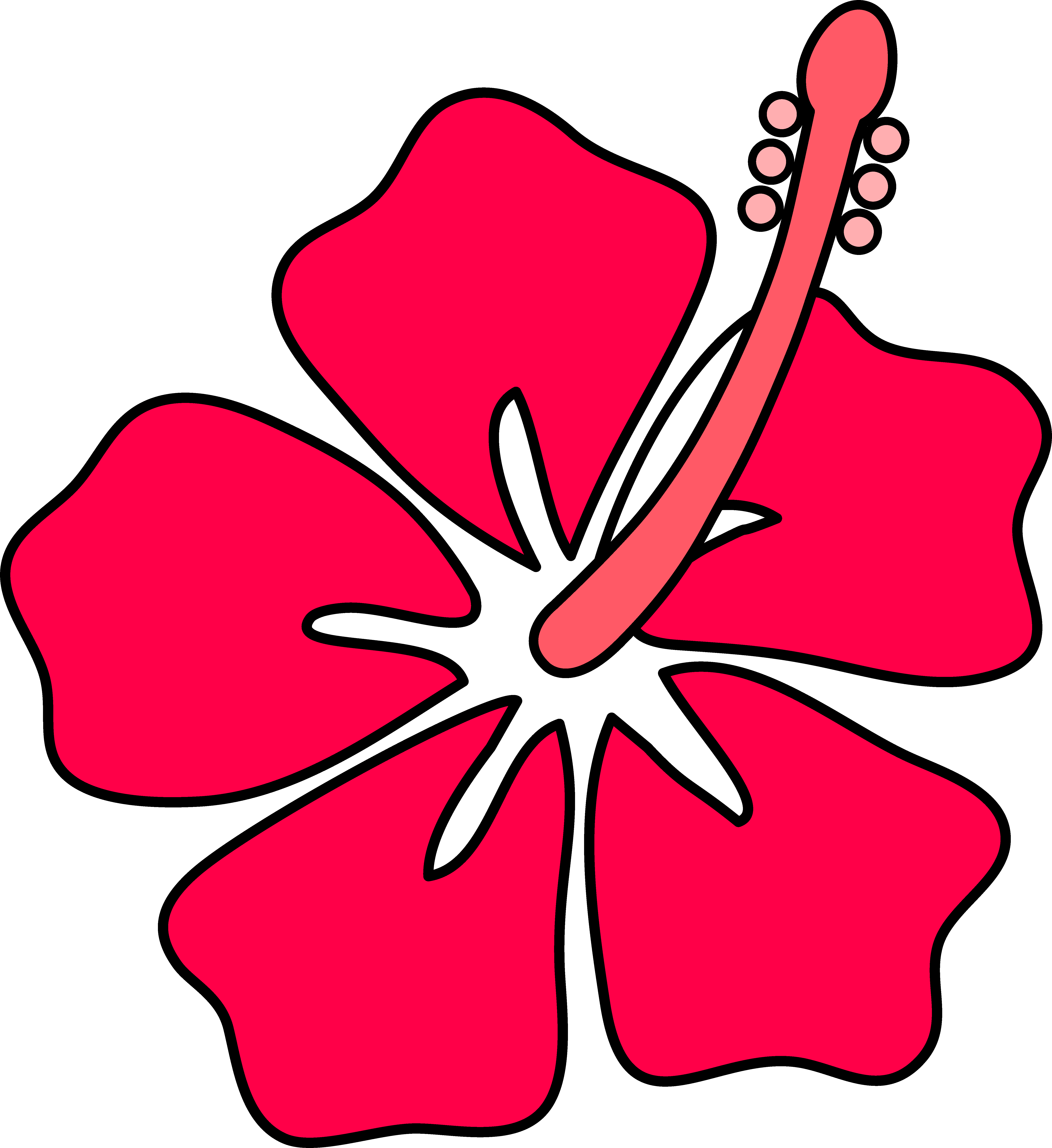 Red Flower clipart outline #13