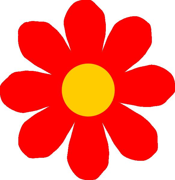 Red Flower clipart outline Clipart Download Flower Flower clipart