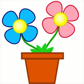 Red Flower clipart planter #6