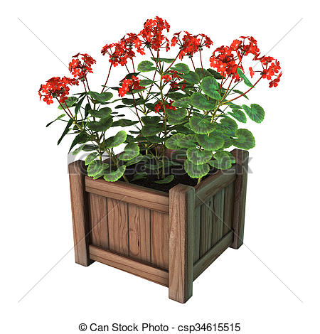 Red Flower clipart planter #12