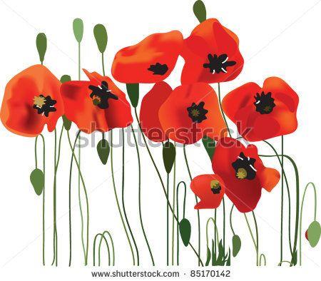 Red Flower clipart poppy flower #9