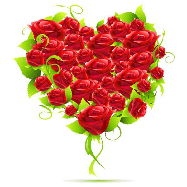 Red Flower clipart romance #12
