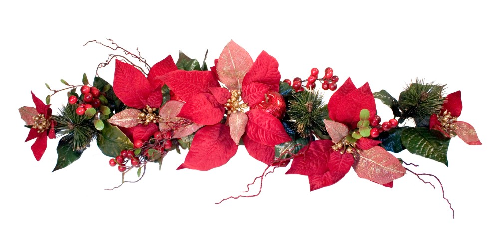Red Flower clipart swag Decorations Decorations Flower Christmas Holidays!