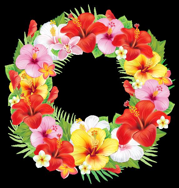 Red Flower clipart wreath #13