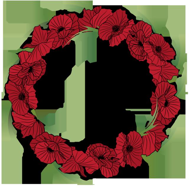 Red Flower clipart wreath #5