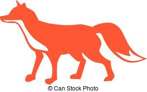 Red Fox clipart Red EPS Artby fox Art