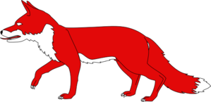 Red Fox clipart Walking clipart image clipart red