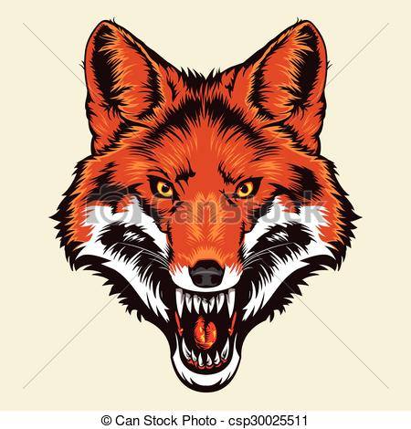 Red Fox clipart angry #4