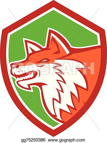 Red Fox clipart angry #1