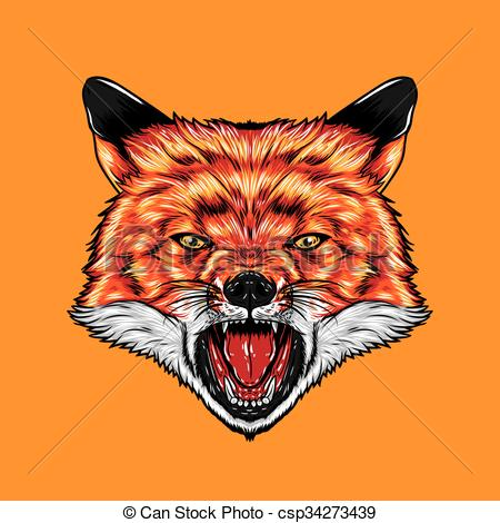 Red Fox clipart angry #6
