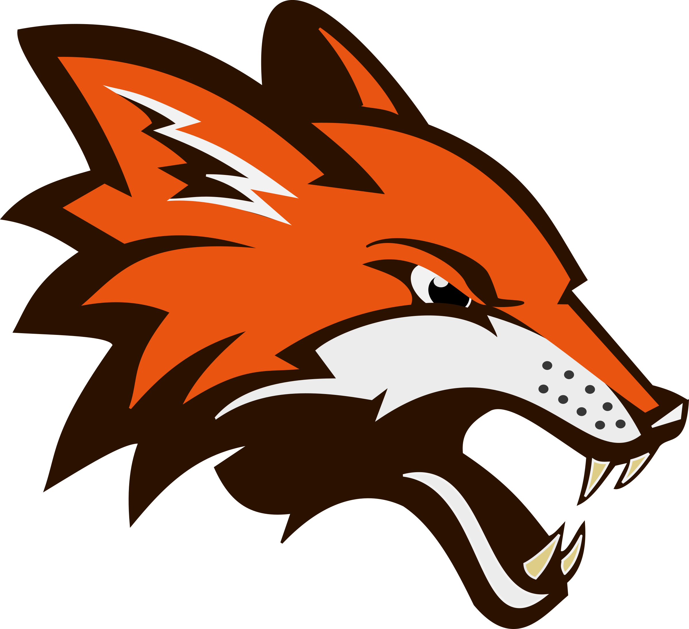 Red Fox clipart angry #2