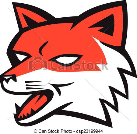 Red Fox clipart angry #3