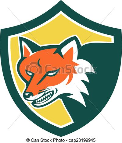 Red Fox clipart angry #5