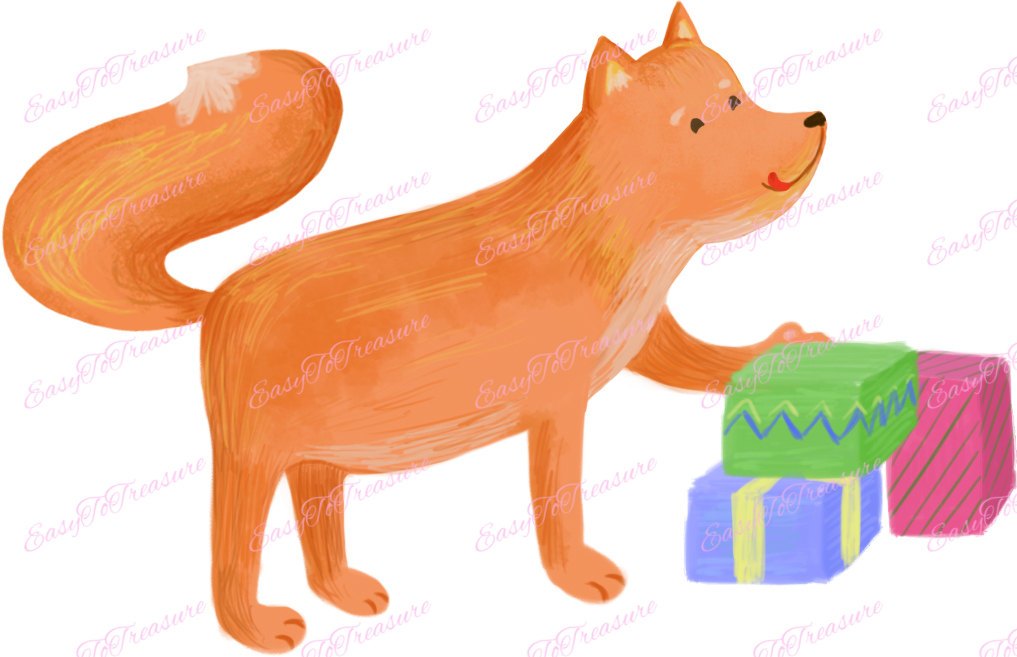 Red Fox clipart christmas #8