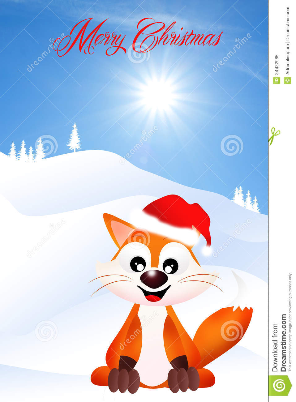 Red Fox clipart christmas #6
