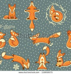 Red Fox clipart christmas #3