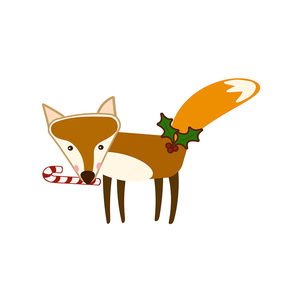 Red Fox clipart christmas #7