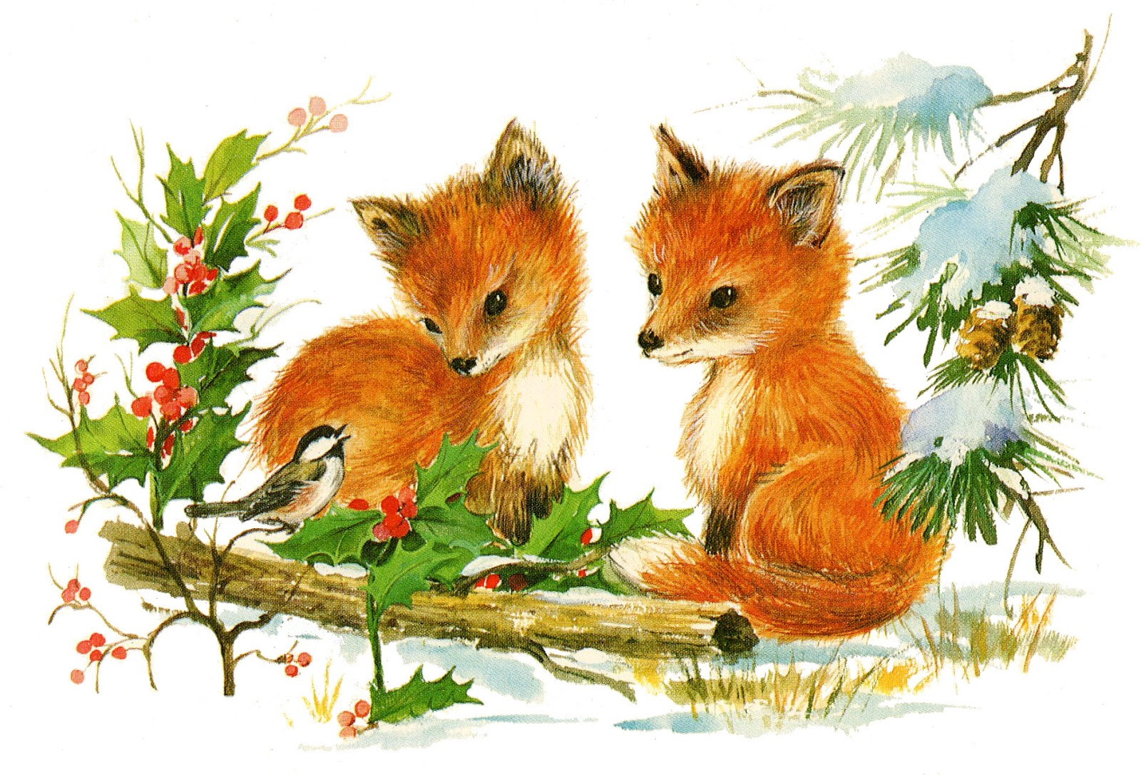 Red Fox clipart christmas #5