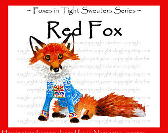 Red Fox clipart christmas #4