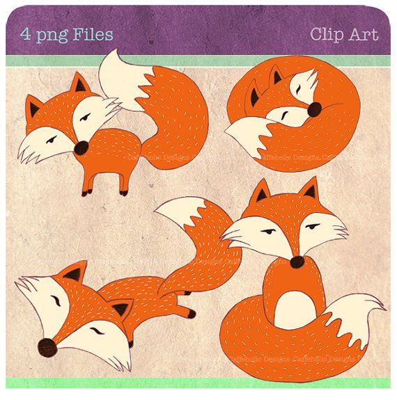 Red Fox clipart guides #4