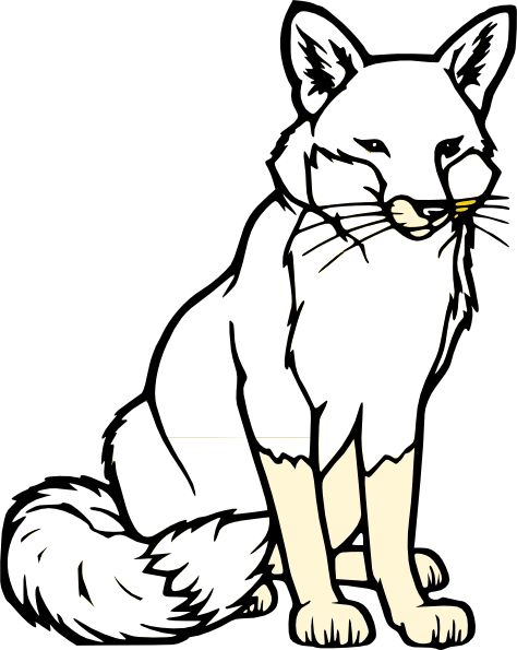 Red Fox clipart white tailed #9