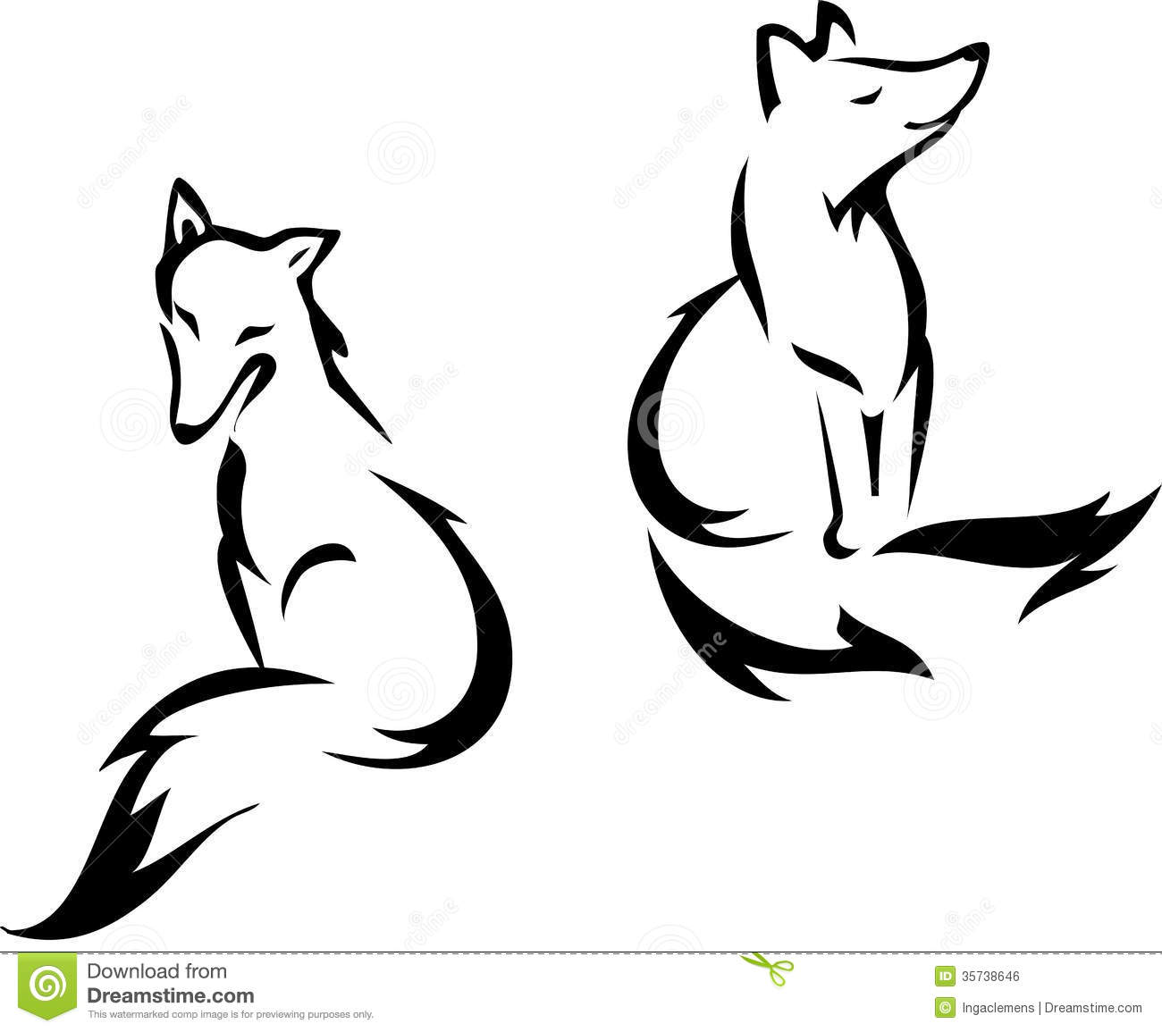 Red Fox clipart white tailed #2