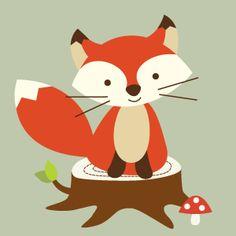 Baby Animal clipart woodland fox With Baby Baby Woodland Fox