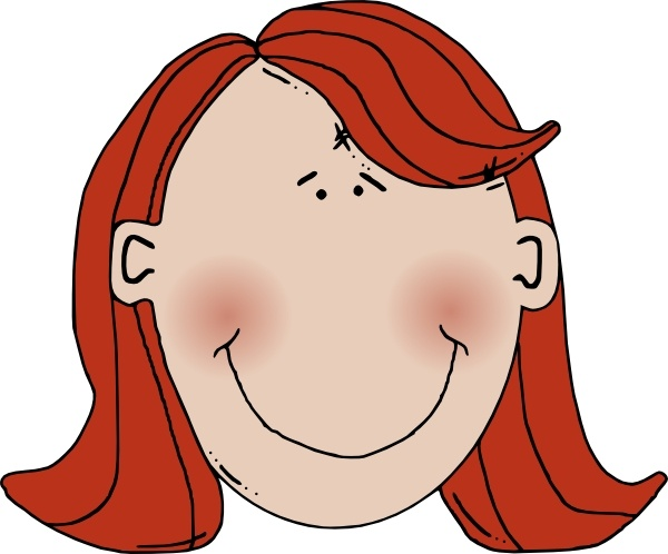 Red Hair clipart women's hair With  in Open Red