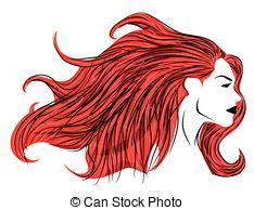 Red Hair clipart Hair woman Red Art hair