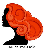 Red Hair clipart depressed woman Hair An a of with