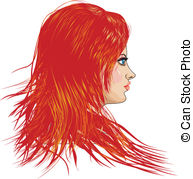 Red Hair clipart Illustrations Red with hair girl