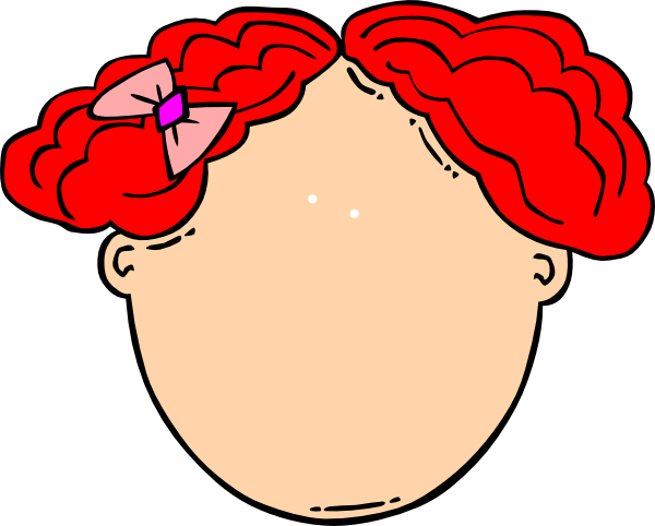 Red Hair clipart small eye Vector Clip art image