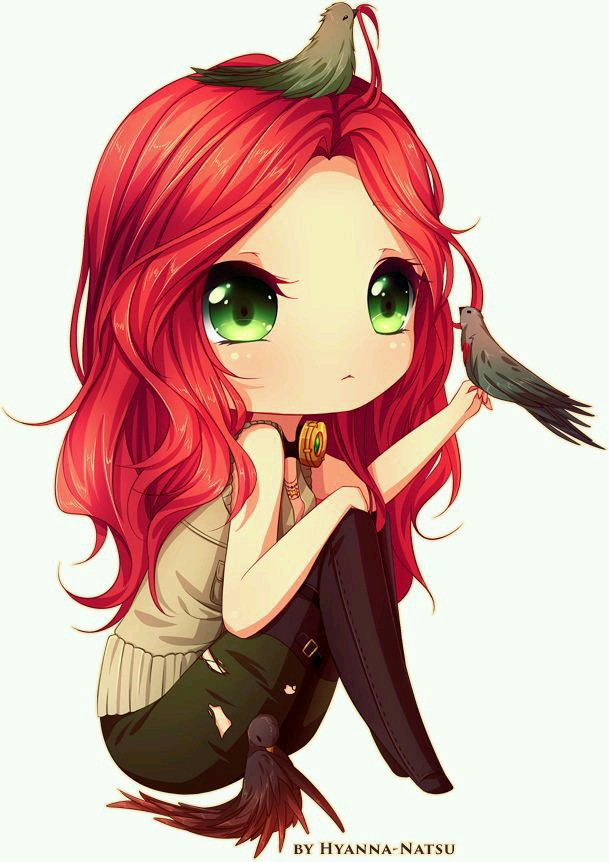 Red Hair clipart anime Eyes red girl Red hair