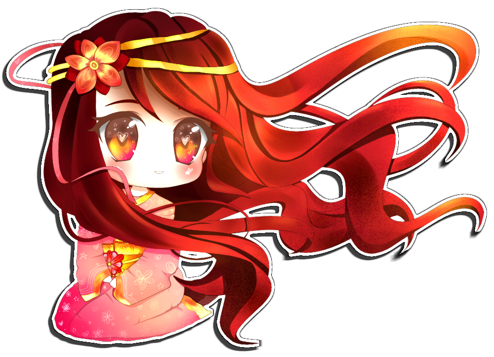 Red Hair clipart anime DeviantArt by by Bubble Crown