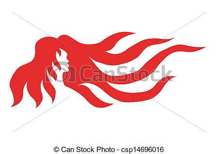 Red Hair clipart art Lady  of hair symbolic