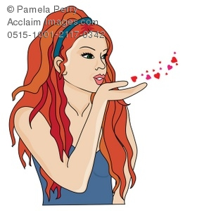 Red Hair clipart art Of Clip Kiss a Illustration