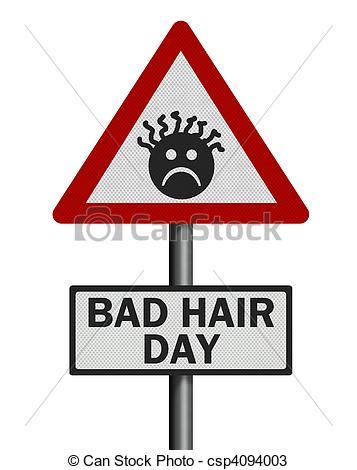 Red Hair clipart bad hair Hair hair sign white \'bad