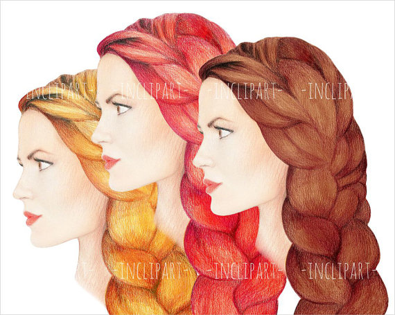 Red Hair clipart braided hair #4