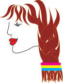 Red Hair clipart braided hair #1