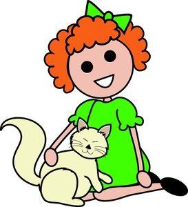 Red Hair clipart cartoon Pinterest Cat Red Her Cat