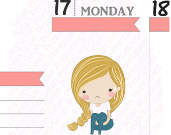 Red Hair clipart child sad #5