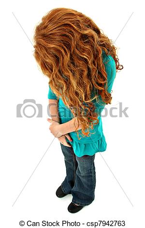 Red Hair clipart child sad #3