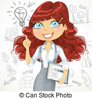 Red Hair clipart curly hair  367 a 8 with