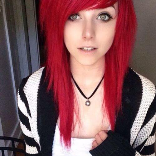 Red Hair clipart emo hair Emo Hairstyles Impressive Girls hair