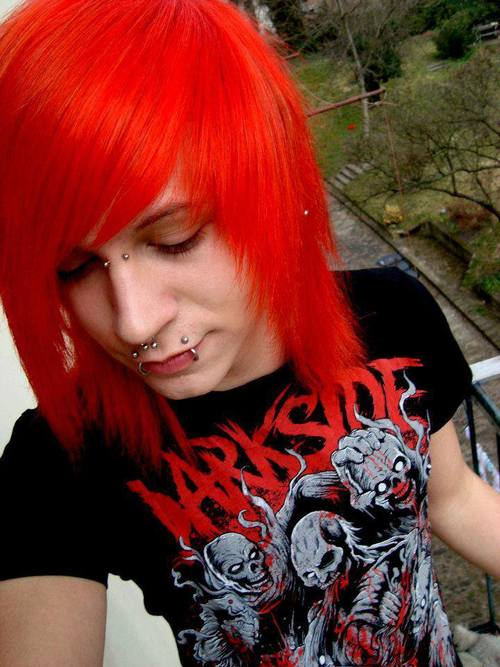 Red Hair clipart emo hair Images Hair a Boy or