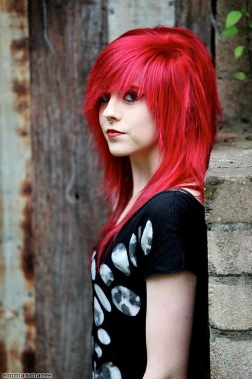 Red Hair clipart emo hair Scene and Best on Scene