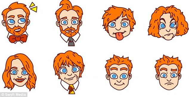 Red Hair clipart family faces Android were may be in
