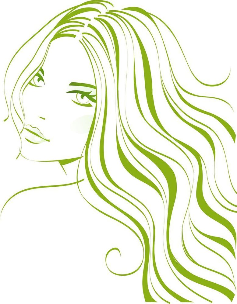 Red Hair clipart flowing hair Art  Flowing Clip Hair